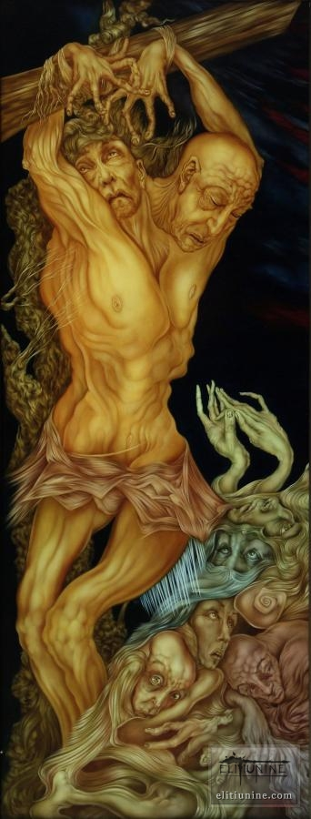 Crucifixion (Left Panel)