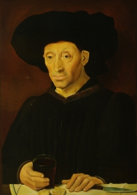 Portrait of a Man with a Glass of Wine (15th Century French School)